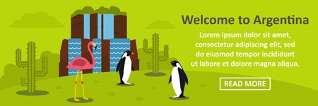 Welcome to argentina banner horizontal concept