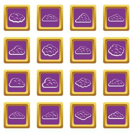Wolken pictogrammen instellen paars