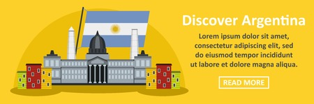 discover: Discover argentina banner horizontal concept Illustration