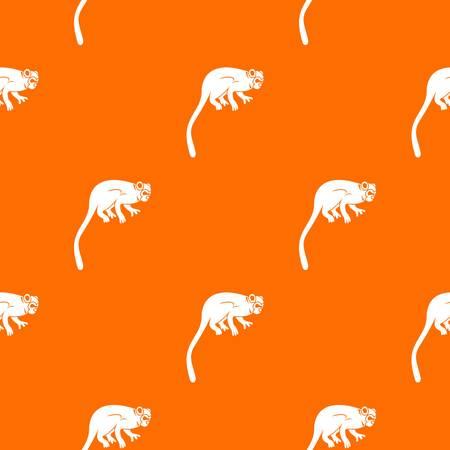 Marmoset monkey pattern seamless Illustration