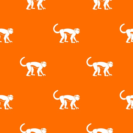 Macaque pattern seamless