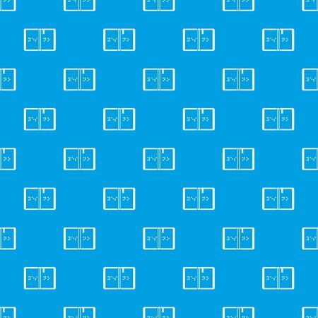 Braille pattern seamless blue