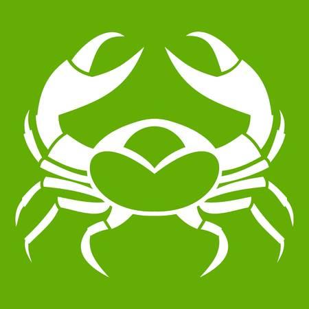 Big crab icon green