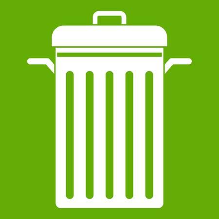 dumpster: Metal trash can icon green