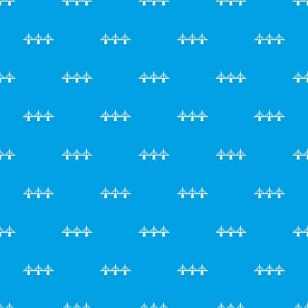 Bridge pattern seamless blue