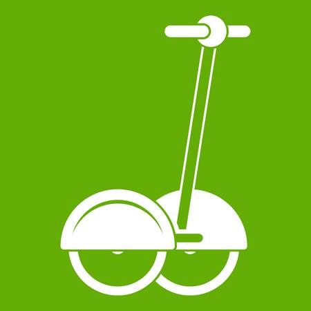 Alternative transport vehicle icon green