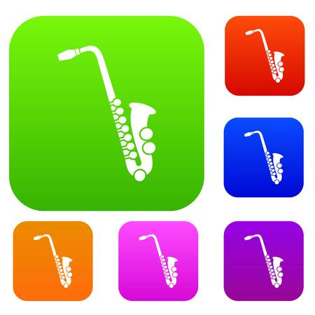 Saxophone set collection Illustration