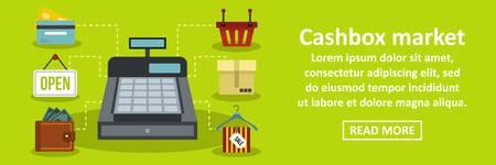 Cashbox market banner horizontal concept