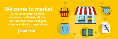 Welcome to market banner horizontal concept