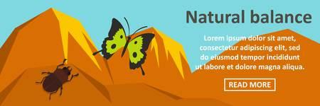 Natural balance banner horizontal concept