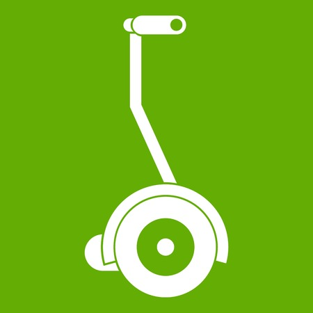 Electrical self balancing scooter icon green