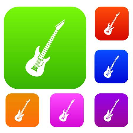 Electric guitar set collection