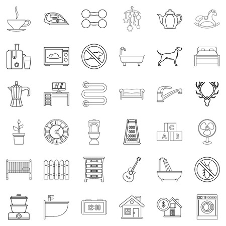 Grater icons set. Outline style of 36 grater vector icons for web isolated on white background