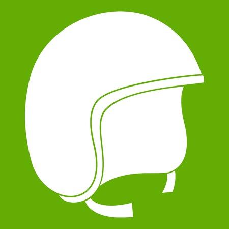 Icône de casque de sécurité vert