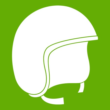 Safety helmet icon green