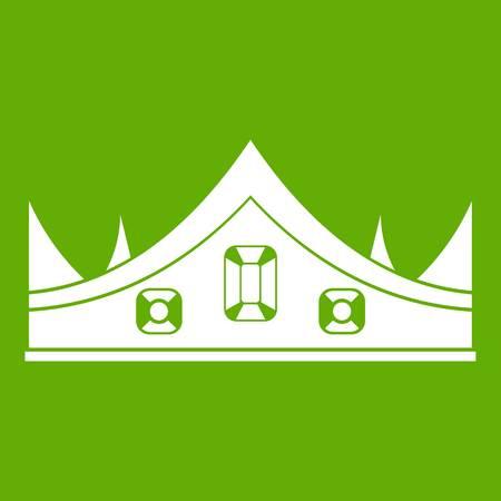 Royal crown icon green Illustration