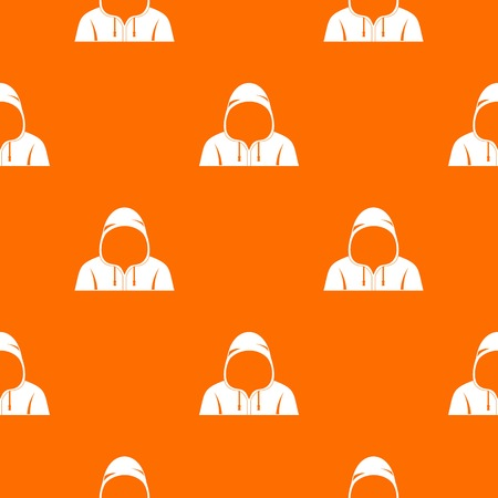 Hood pattern repeat seamless in orange color for any design. Vector geometric illustration