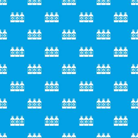 offset printer: Printer ink bottles pattern repeat seamless in blue color for any design. Vector geometric illustration