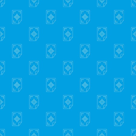 Printer marks on a paper pattern repeat in blue color for any design geometric illustration