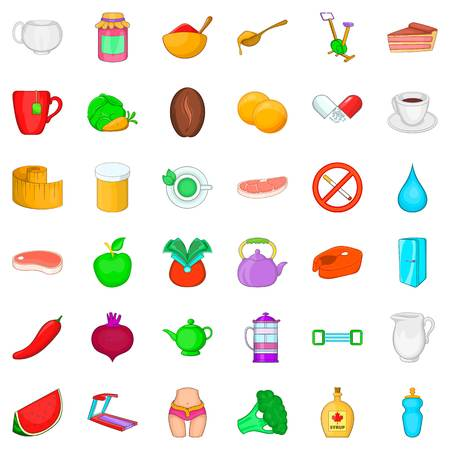 Food and diet icons set