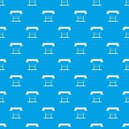 Large format inkjet printer pattern seamless in blue color for any design
