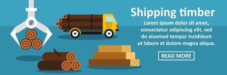 logging: Shipping timber banner horizontal concept