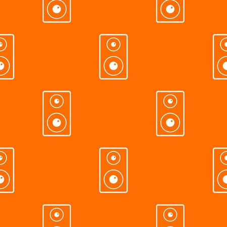Subwoofer pattern repeat seamless in orange color for any design geometric illustration