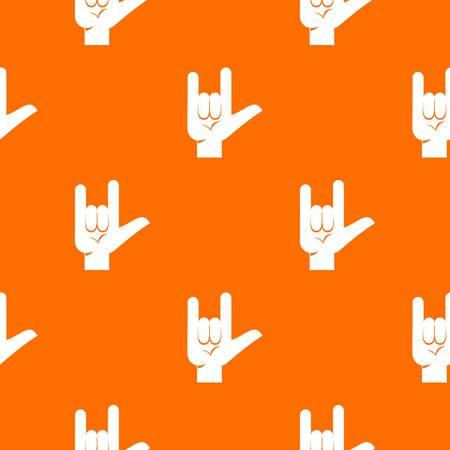 Repita el patrón de gesto de la roca sin fisuras en color naranja para cualquier diseño. Ilustración geométrica de vector