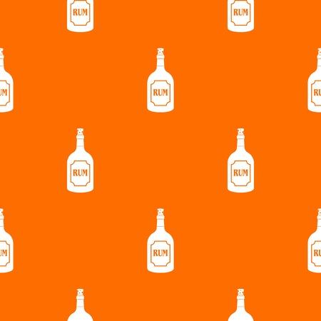 럼 패턴 반복 어떤 디자인 오렌지 색상에서 원활 하 게합니다. 벡터 기하학적 그림