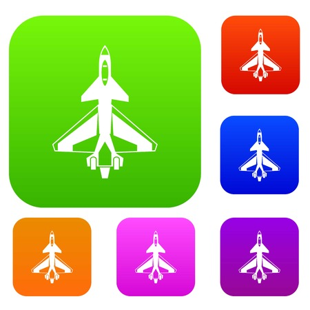 Military fighter jet set collection