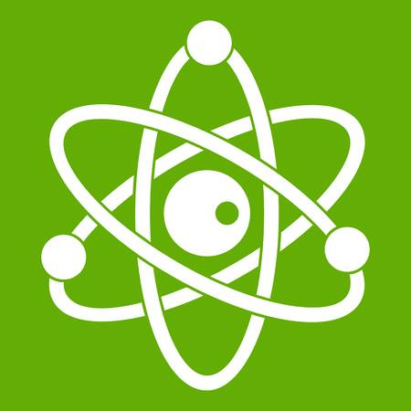 Atomic model icon green