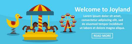 Welcome to joyland banner horizontal concept. Flat illustration of welcome to joyland banner horizontal vector concept for web
