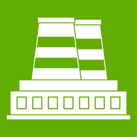 Manufacturing plant icon green