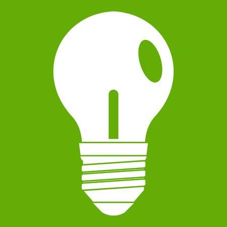 Light bulb icon green Illustration