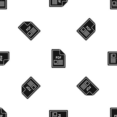 pdf: File PDF pattern seamless black Illustration