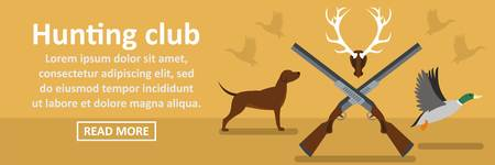 Hunting club banner horizontal concept