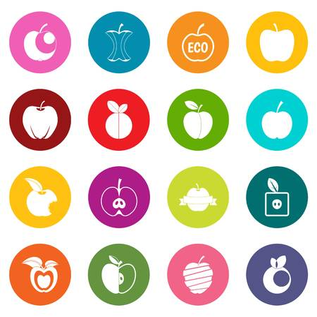 Apple icons many colors set