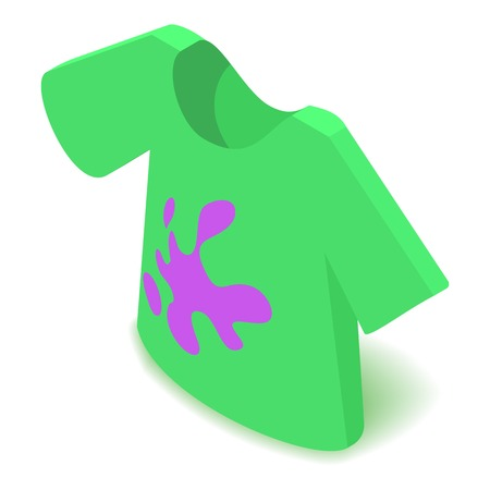 Dirty t-shirt icon, isometric 3d style