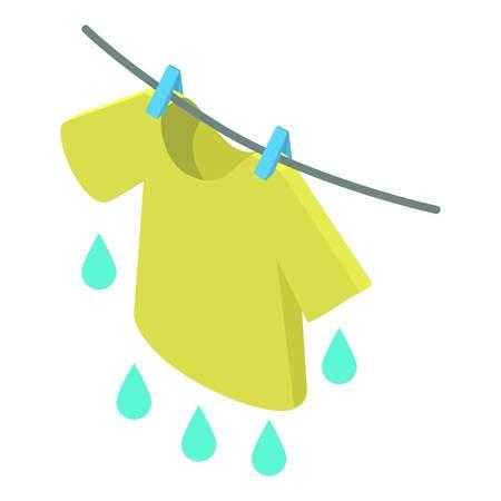 T-shirt icon, isometric 3d style Illustration