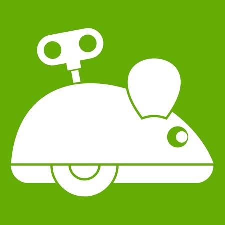 Uhrwerk Maus Symbol grün Vektorgrafik