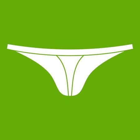 Thongs icon, green