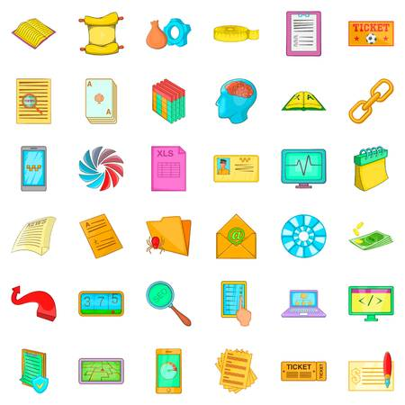 Conversation icons set, cartoon style