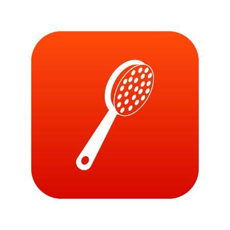 Pumice icon digital red Illustration