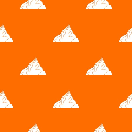 Iceberg pattern repeat seamless in orange color for any design. Vector geometric illustration