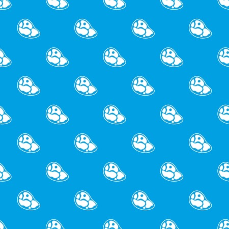 Steak pattern repeat seamless in blue color for any design. Vector geometric illustration Illustration
