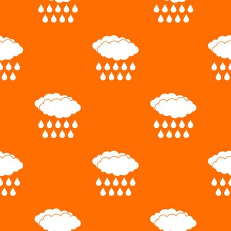 Rain pattern repeat seamless in orange color for any design. Vector geometric illustration