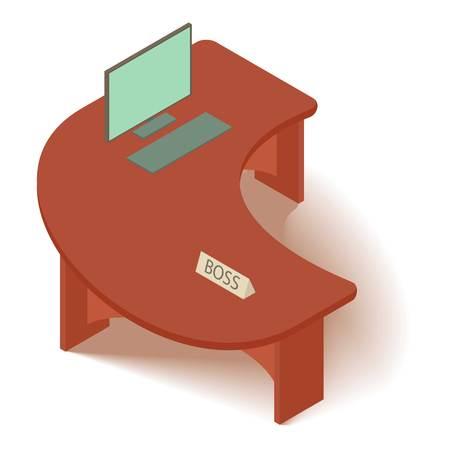 Computer tafel pictogram. Isometrische illustratie van computer tafel vector pictogram voor web