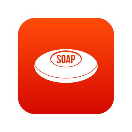 Soap icon digital red for any design isolated on white vector illustration