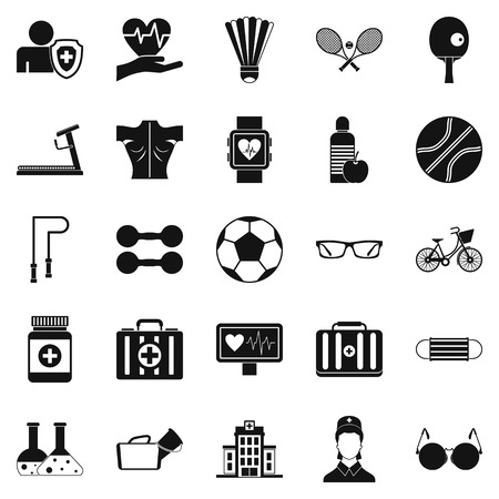 Medic icons set. Simple set of 25 medic vector icons for web isolated on white background