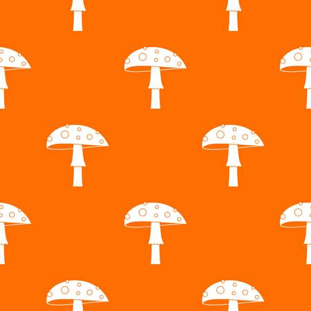 Amanita pattern repeat seamless in orange color for any design. Vector geometric illustration Illustration